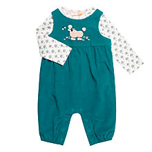 Buy John Lewis Baby Poodle Dungaree Set, Green Online at johnlewis.com