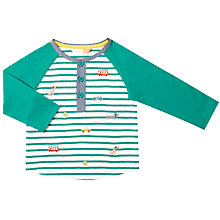 Buy John Lewis Baby Stripe Jersey T-Shirt, Green Online at johnlewis.com