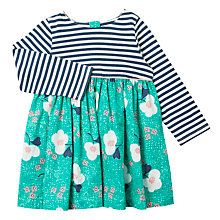 Buy John Lewis Baby Mixed Print Skater Dress, Multi Online at johnlewis.com