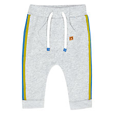 Buy John Lewis Baby Striped Joggers, Grey Online at johnlewis.com