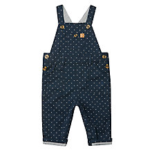Buy John Lewis Baby Textured Dungarees, Navy Online at johnlewis.com