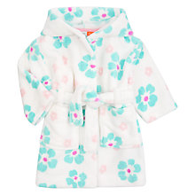 Buy John Lewis Baby Fleece Floral Robe, Multi Online at johnlewis.com