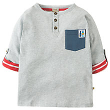 Buy Frugi Organic Boys' Heligan Henley Top, Grey Marl Online at johnlewis.com