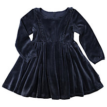 Buy Polarn O. Pyret Children's Velour Dress, Blue Online at johnlewis.com