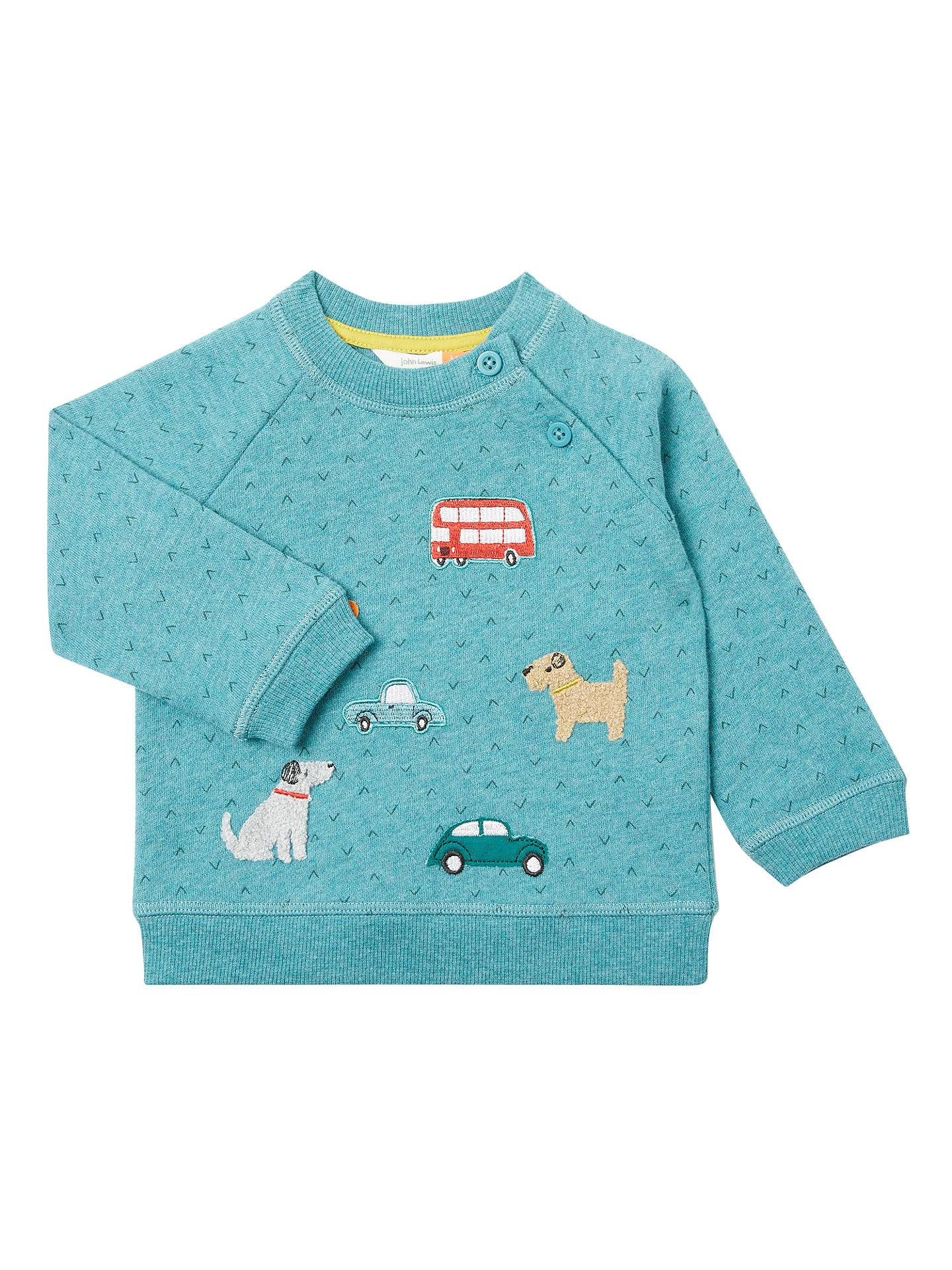 a864b2e57057 John Lewis Baby Dog and Car Badge Sweatshirt
