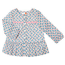 Buy John Lewis Baby Floral Print Blouse, Multi Online at johnlewis.com