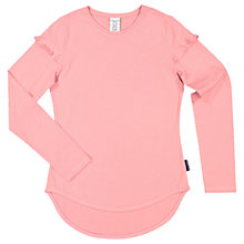Buy Polarn O. Pyret Children's Long Sleeve Frill Top, Pink Online at johnlewis.com