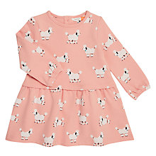 Buy John Lewis Baby Poodle Print Sweatshirt Dress, Pink Online at johnlewis.com