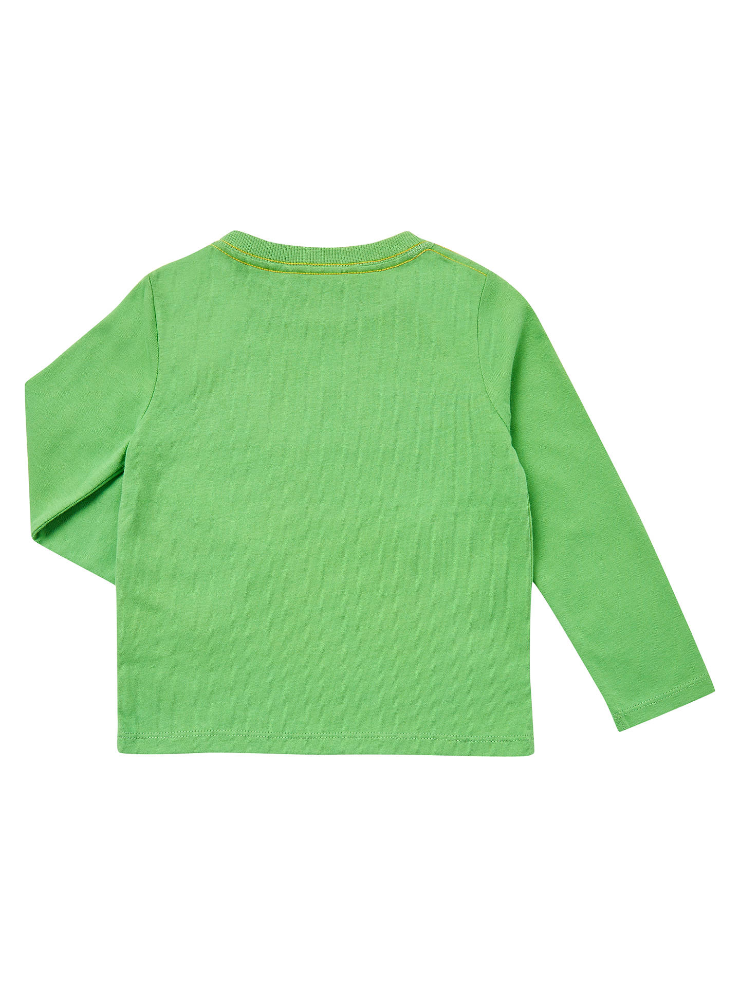 Buy John Lewis Baby Hello Long Sleeve T-Shirt, Green, 18-24 months Online at johnlewis.com