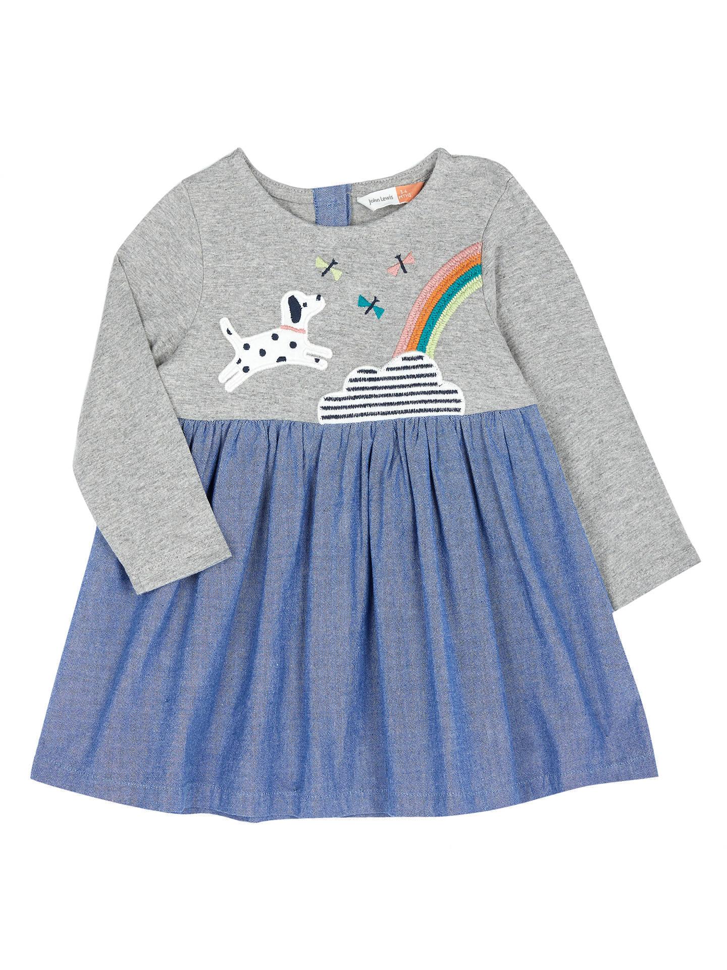 6574675d82 Buy John Lewis   Partners Baby Dog Rainbow Dress