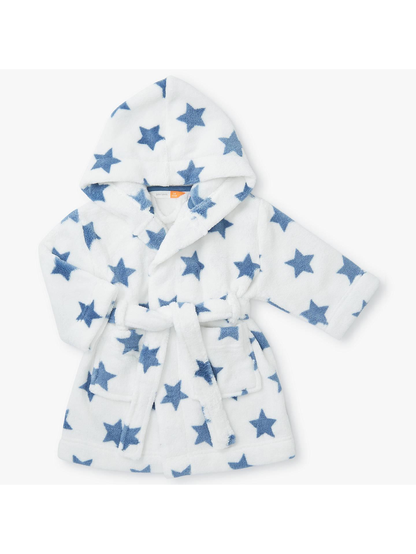 John Lewis Baby Fleece Dressing Gown Cream At John Lewis Partners