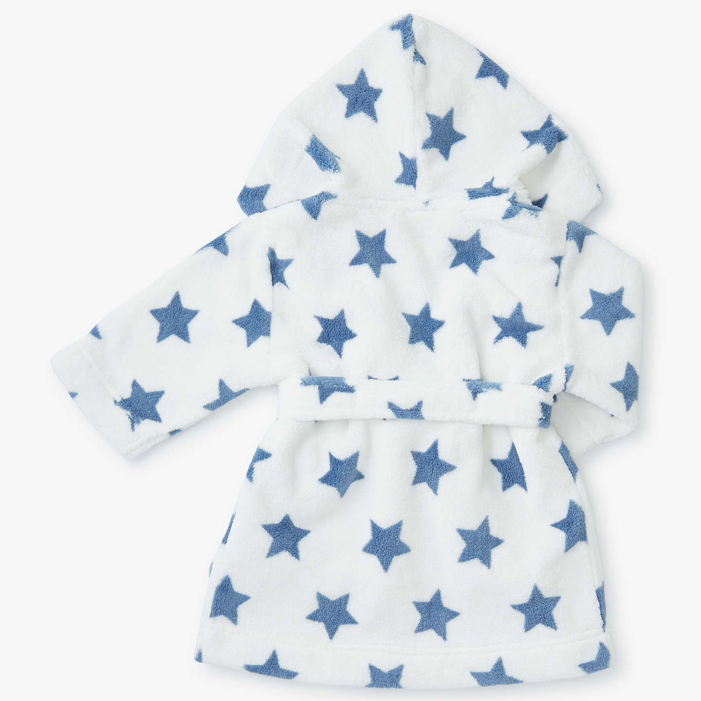 John Lewis Baby Fleece Dressing Gown, Cream at John Lewis