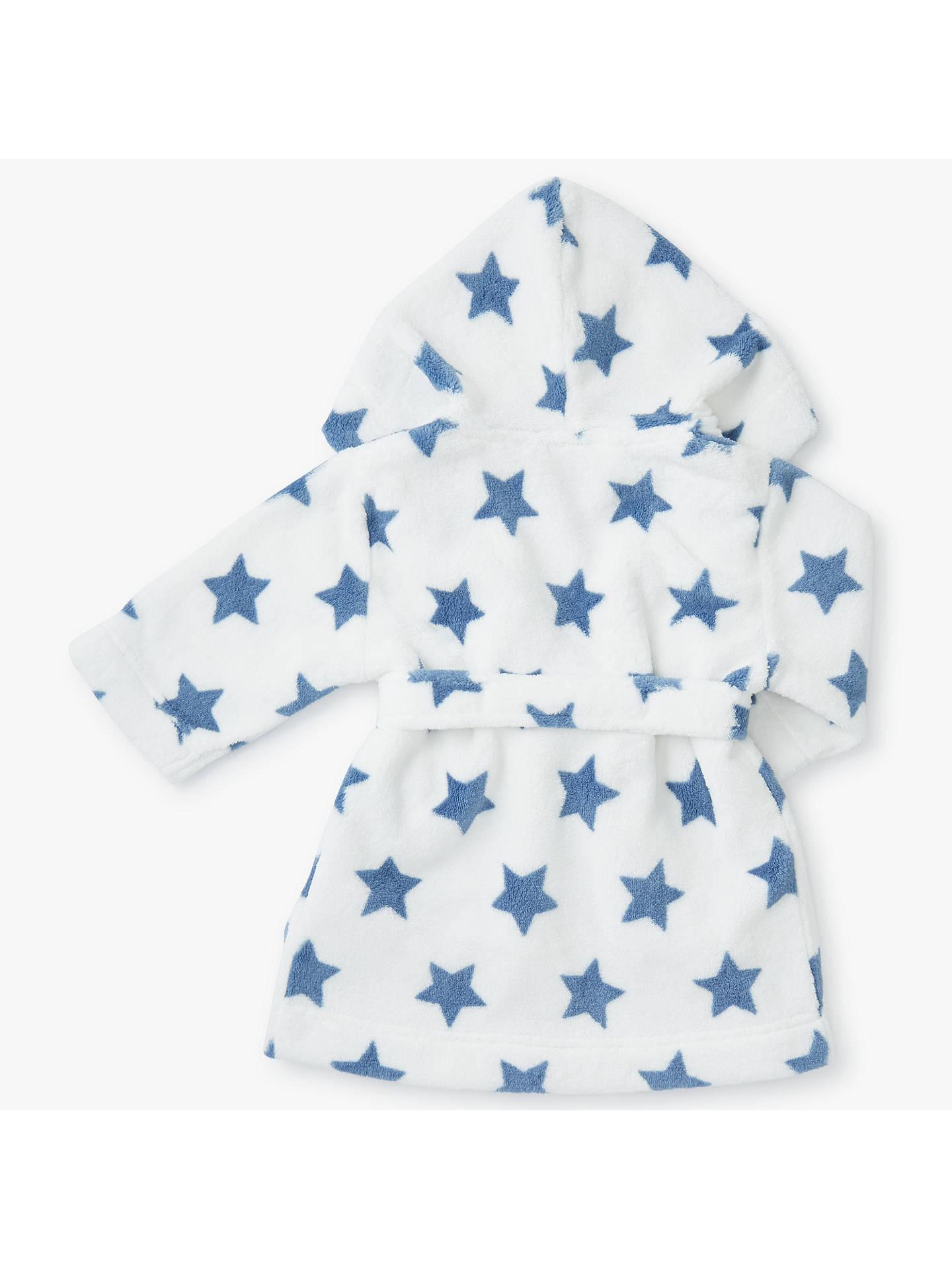 John Lewis Baby Fleece Dressing Gown, Cream at John Lewis & Partners