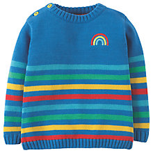 Buy Frugi Organic Baby Jack Knit Rainbow Jumper, Multi Online at johnlewis.com