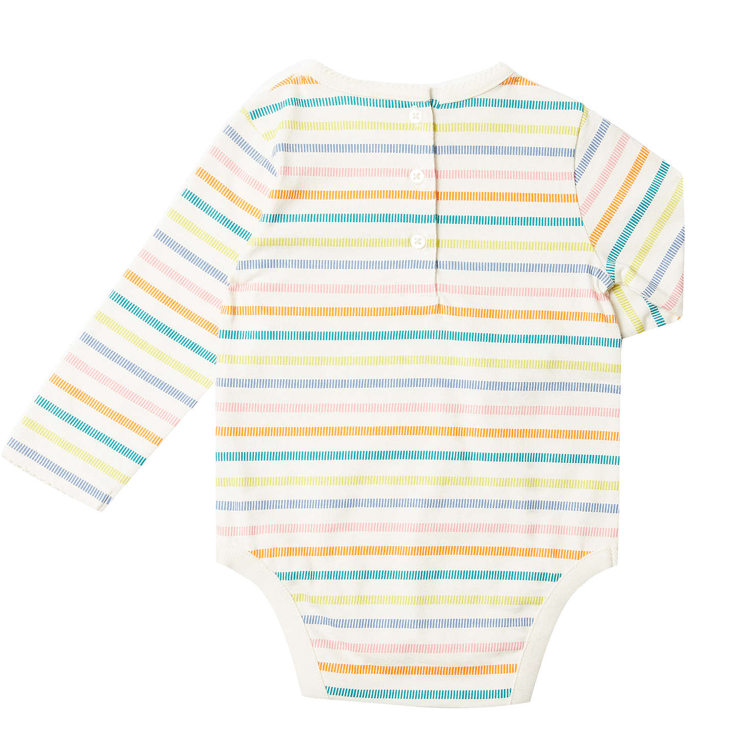 BuyJohn Lewis Baby Long Sleeve Dog Print Bodysuit, Pack of 2, Multi, 0-3 months Online at johnlewis.com