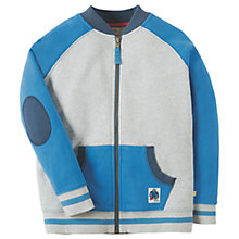 Buy Frugi Organic Boys' Isaac Raglan Jacket, Grey Marl Online at johnlewis.com