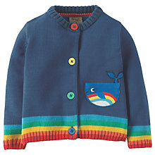 Buy Frugi Organic Baby Lil Happy Day Whale Cardigan, Blue Online at johnlewis.com
