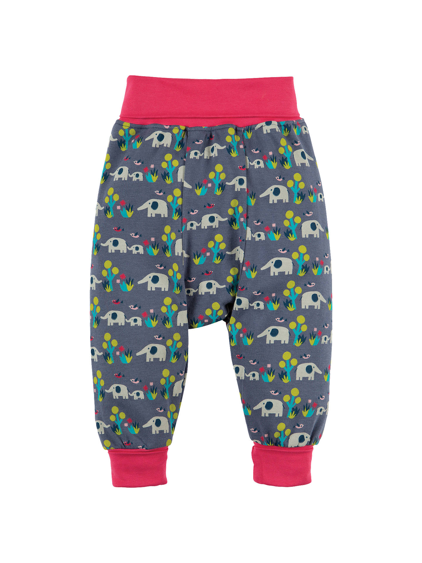 Frugi Organic Baby Parsnip Elly Elephant Savanna Trousers, Multi at John  Lewis & Partners