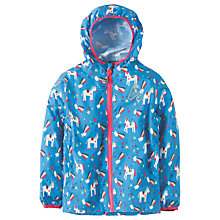 Buy Frugi Organic Children's Puddle Buster Unicorn Coat, Blue/Multi Online at johnlewis.com