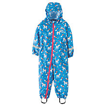 Buy Frugi Organic Baby Unicorn Puddle Buster Suit, Blue Online at johnlewis.com