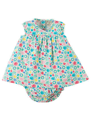 Joules Baby Penny Jersey Dress And Knickers Set in AQUA WHITE STRIPE