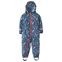 Buy Frugi Organic Baby Puddle Buster Suit, Blue Online at johnlewis.com