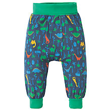 Buy Frugi Organic Baby Parsnip Jurassic Jungle Trousers, Green Online at johnlewis.com
