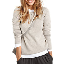 Buy hush Scarlett Crew Neck Jumper, Biscuit Online at johnlewis.com
