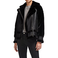 Buy Whistles Faux Fur Biker Jacket Online at johnlewis.com