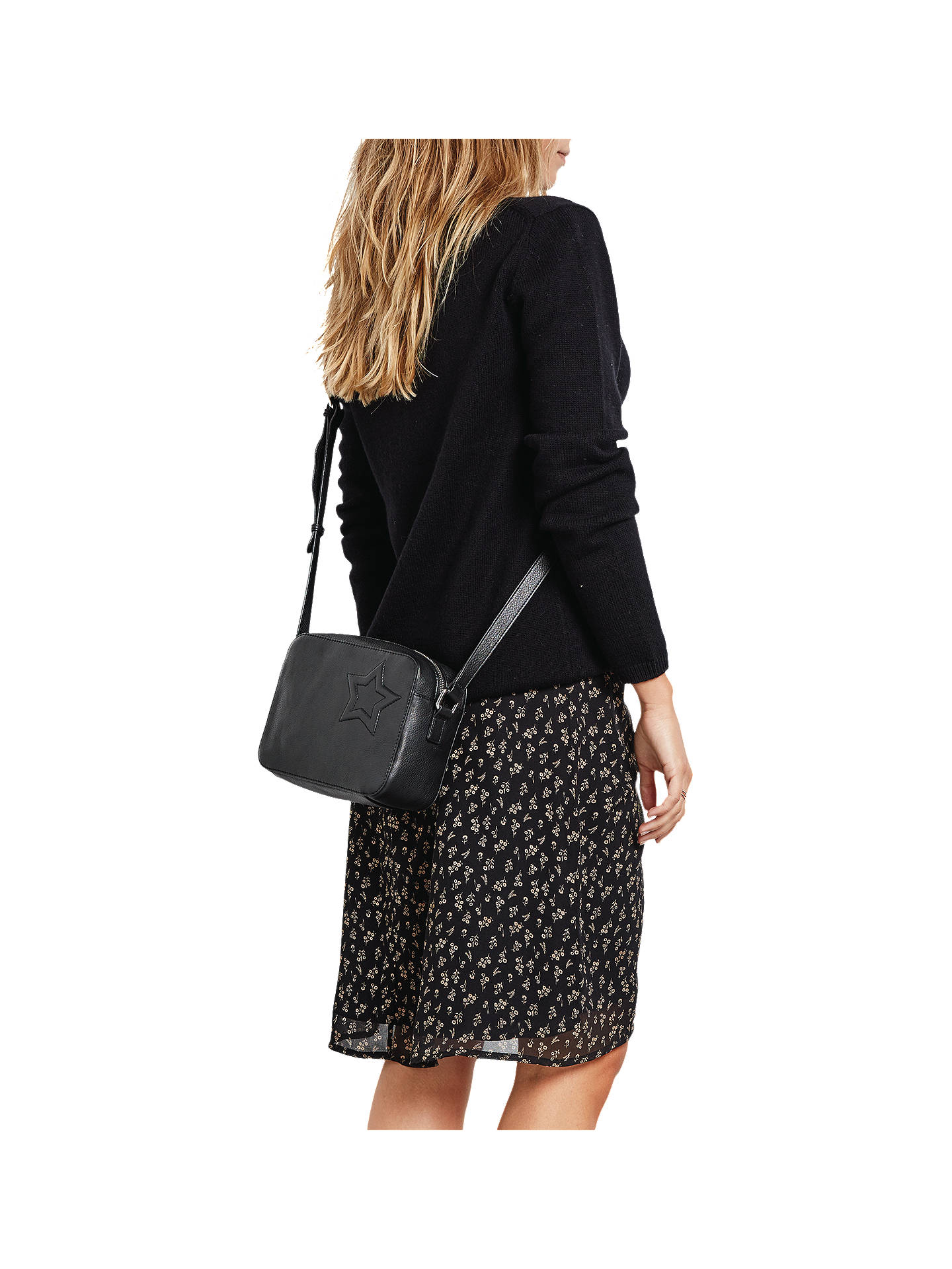 Buyhush Florence Skirt, Black/Brown, 6 Online at johnlewis.com