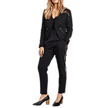 Buy hush Haywood Cropped Jacket, Black/Gold Online at johnlewis.com