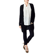 Buy Pure Collection Longline Cashmere Cardigan, Black Online at johnlewis.com