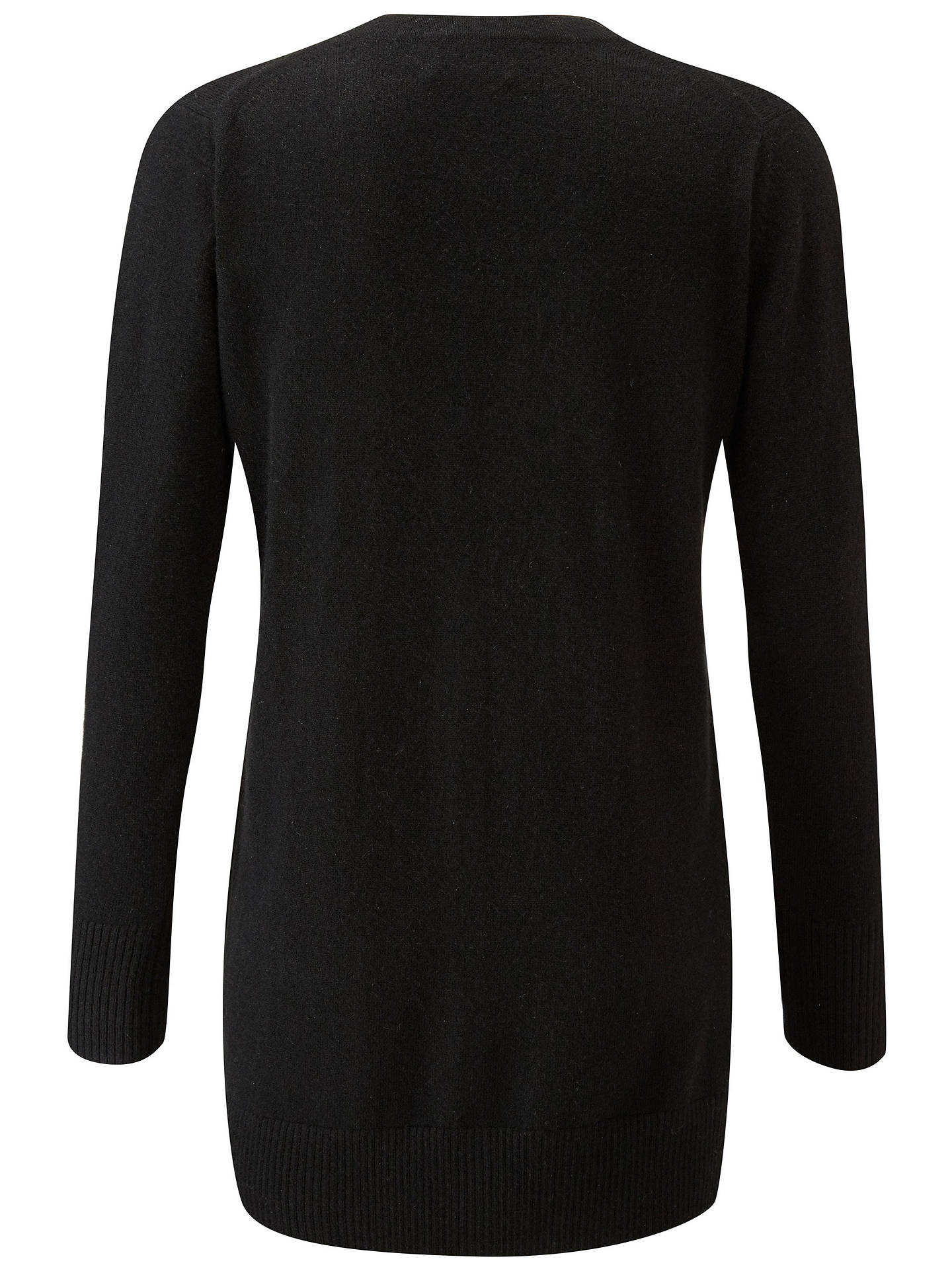 Buy Pure Collection Cashmere Boyfriend Cardigan, Black, 20 Online at johnlewis.com