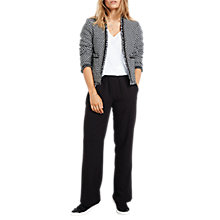 Buy hush Brooke Cropped Jacket, Black/White Online at johnlewis.com