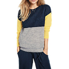 Buy hush Colourblock Jumper, Midnight/Multi Online at johnlewis.com