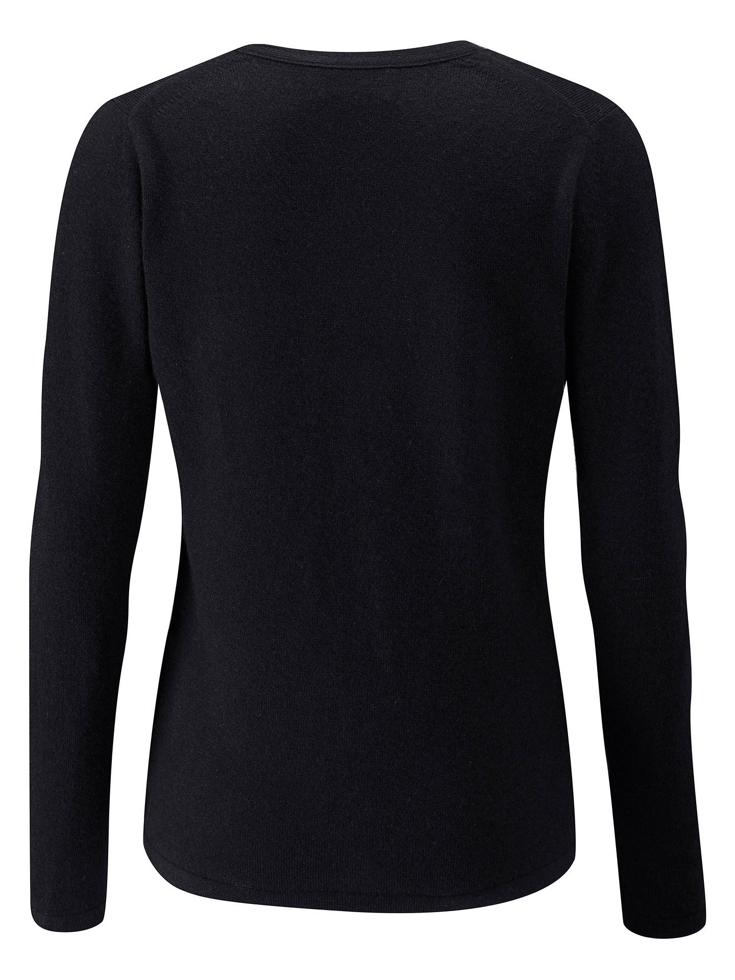 BuyPure Collection V-Neck Cashmere Cardigan, Black, 8 Online at johnlewis.com