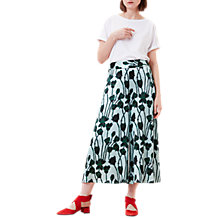 Buy Finery Hervey Floral Culottes, Honesty Flowers Print Online at johnlewis.com