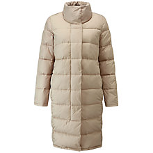 Buy Pure Collection Funnel Neck Padded Coat, Champagne Online at johnlewis.com