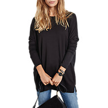Buy hush Wide Jersey Top, Black Online at johnlewis.com