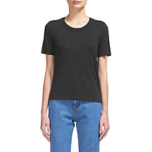 Buy Whistles Rosa Double Trim T-Shirt, Black Online at johnlewis.com