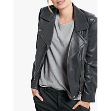 Buy hush Onyx Leather Jacket Online at johnlewis.com
