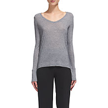 Buy Whistles Scoop Neck Wool Mix Top Online at johnlewis.com