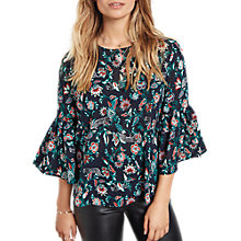 Buy hush Antibes Bell Sleeve Blouse, Multi Online at johnlewis.com