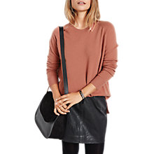 Buy hush Cashmere Boyfriend Jumper, Pink Online at johnlewis.com