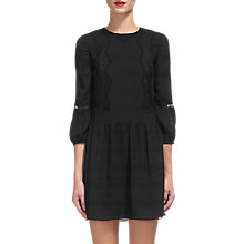 Buy Whistles Sydney Lace Mix Dress, Black Online at johnlewis.com