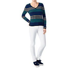 Buy Pure Collection V-Neckline Pure Cashmere Cardigan, Blue Online at johnlewis.com