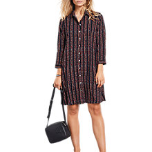 Buy hush Posey Shirt Dress, Black/Multi Online at johnlewis.com