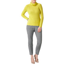 Buy Pure Collection Gassato Cashmere Polo Neck Sweater, Chartreuse Online at johnlewis.com