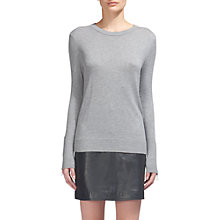 Buy Whistles Zip Cuff Crew Neck Jumper Online at johnlewis.com