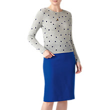 Buy Pure Collection Spot Cropped Cashmere Jumper, Heather Dove Online at johnlewis.com